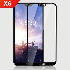 Nokia X6用強化ガラス フル液晶保護フィルム ノキア ブラック