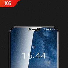Nokia X6用強化ガラス 液晶保護フィルム T01 ノキア クリア