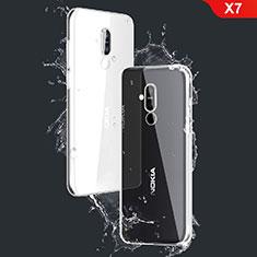 Nokia X7用極薄ソフトケース シリコンケース 耐衝撃 全面保護 クリア透明 T03 ノキア クリア