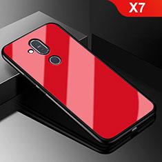 Nokia X7用シリコンケース ソフトタッチラバー 鏡面 ノキア レッド