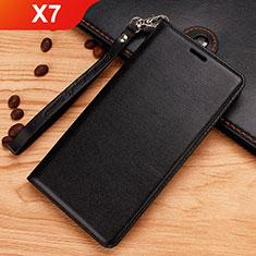 Nokia X7用手帳型 レザーケース スタンド ノキア ブラック