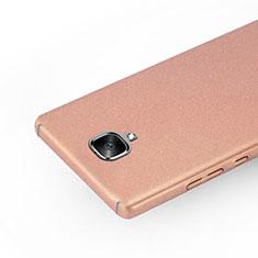 OnePlus 3T用ハードケース カバー プラスチック OnePlus ローズゴールド