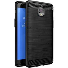 OnePlus 3T用シリコンケース ソフトタッチラバー ツイル OnePlus ブラック