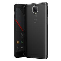 OnePlus 3T用極薄ソフトケース シリコンケース 耐衝撃 全面保護 クリア透明 T05 OnePlus グレー