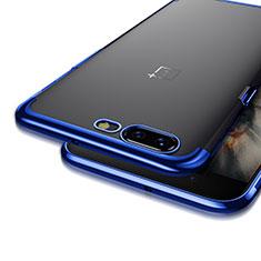 OnePlus 5用ハイブリットバンパーケース クリア透明 プラスチック OnePlus ネイビー