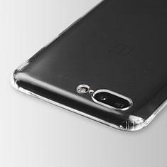 OnePlus 5用極薄ソフトケース シリコンケース 耐衝撃 全面保護 クリア透明 T03 OnePlus クリア