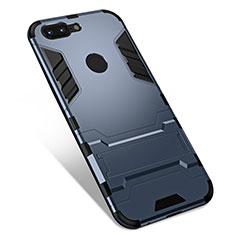 OnePlus 5T A5010用ハイブリットバンパーケース スタンド プラスチック 兼シリコーン カバー OnePlus グレー