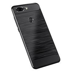 OnePlus 5T A5010用シリコンケース ソフトタッチラバー ツイル カバー OnePlus ブラック