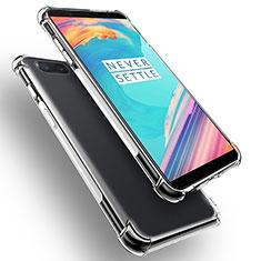 OnePlus 5T A5010用極薄ソフトケース シリコンケース 耐衝撃 全面保護 クリア透明 T02 OnePlus クリア