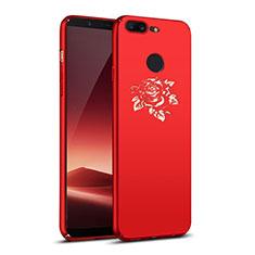 OnePlus 5T A5010用ハードケース プラスチック 花々 OnePlus レッド