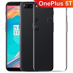 OnePlus 5T A5010用極薄ソフトケース シリコンケース 耐衝撃 全面保護 クリア透明 T06 OnePlus クリア
