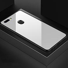 OnePlus 5T A5010用ハイブリットバンパーケース プラスチック 鏡面 カバー OnePlus ホワイト