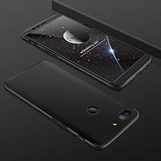 OnePlus 5T A5010用ハードケース プラスチック 質感もマット 前面と背面 360度 フルカバー OnePlus ブラック
