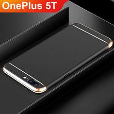 OnePlus 5T A5010用ケース 高級感 手触り良い メタル兼プラスチック バンパー M01 OnePlus ブラック