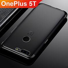 OnePlus 5T A5010用極薄ソフトケース シリコンケース 耐衝撃 全面保護 クリア透明 H02 OnePlus ブラック