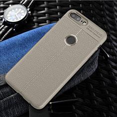 OnePlus 5T A5010用シリコンケース ソフトタッチラバー レザー柄 S01 OnePlus グレー