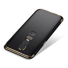 OnePlus 6用極薄ソフトケース シリコンケース 耐衝撃 全面保護 クリア透明 H01 OnePlus ゴールド