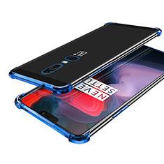 OnePlus 6用極薄ソフトケース シリコンケース 耐衝撃 全面保護 クリア透明 H02 OnePlus ネイビー