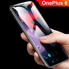 OnePlus 6用強化ガラス フル液晶保護フィルム F08 OnePlus ブラック