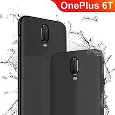 OnePlus 6T用極薄ソフトケース シリコンケース 耐衝撃 全面保護 OnePlus ブラック