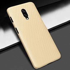 OnePlus 6T用ハードケース プラスチック 質感もマット M02 OnePlus ゴールド
