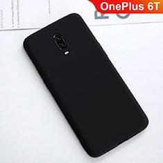 OnePlus 6T用極薄ソフトケース シリコンケース 耐衝撃 全面保護 S01 OnePlus ブラック