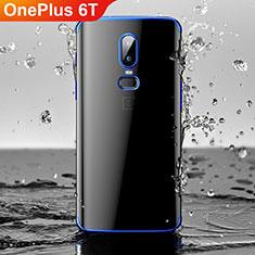 OnePlus 6T用極薄ソフトケース シリコンケース 耐衝撃 全面保護 クリア透明 H03 OnePlus ネイビー