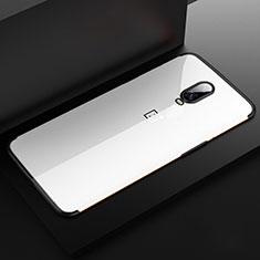 OnePlus 6T用極薄ソフトケース シリコンケース 耐衝撃 全面保護 クリア透明 H03 OnePlus ブラック
