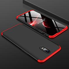 OnePlus 6T用ハードケース プラスチック 質感もマット 前面と背面 360度 フルカバー OnePlus レッド・ブラック