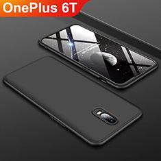OnePlus 6T用ハードケース プラスチック 質感もマット 前面と背面 360度 フルカバー OnePlus ブラック