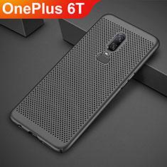 OnePlus 6T用ハードケース プラスチック メッシュ デザイン カバー OnePlus ブラック