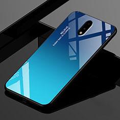 OnePlus 7用ハイブリットバンパーケース プラスチック 鏡面 カバー OnePlus ネイビー