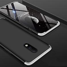 OnePlus 7用ハードケース プラスチック 質感もマット 前面と背面 360度 フルカバー OnePlus シルバー・ブラック