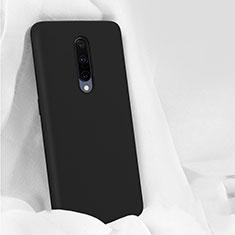 OnePlus 7 Pro用360度 フルカバー極薄ソフトケース シリコンケース 耐衝撃 全面保護 バンパー OnePlus ブラック