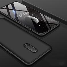 OnePlus 7 Pro用ハードケース プラスチック 質感もマット 前面と背面 360度 フルカバー OnePlus ブラック