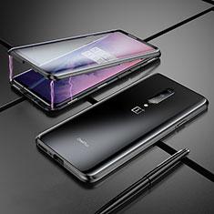 OnePlus 7 Pro用ケース 高級感 手触り良い アルミメタル 製の金属製 バンパー 鏡面 カバー OnePlus ブラック