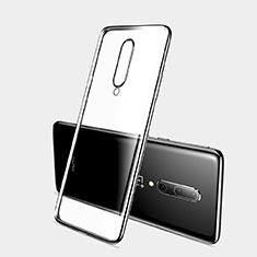 OnePlus 7 Pro用極薄ソフトケース シリコンケース 耐衝撃 全面保護 クリア透明 H03 OnePlus ブラック