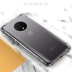OnePlus 7T用極薄ソフトケース シリコンケース 耐衝撃 全面保護 クリア透明 T03 OnePlus クリア