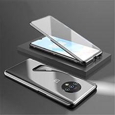 OnePlus 7T用ケース 高級感 手触り良い アルミメタル 製の金属製 360度 フルカバーバンパー 鏡面 カバー OnePlus ブラック