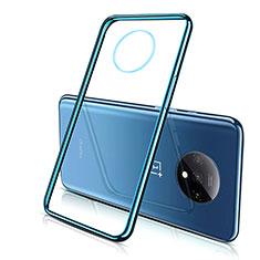 OnePlus 7T用極薄ソフトケース シリコンケース 耐衝撃 全面保護 クリア透明 H02 OnePlus ネイビー