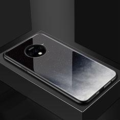 OnePlus 7T用ハイブリットバンパーケース プラスチック 星空 鏡面 カバー OnePlus グレー
