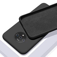 OnePlus 7T用360度 フルカバー極薄ソフトケース シリコンケース 耐衝撃 全面保護 バンパー S03 OnePlus ブラック