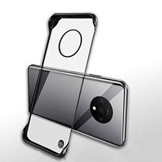 OnePlus 7T用ハードカバー クリスタル クリア透明 H01 OnePlus ブラック