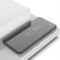 OnePlus 7T用手帳型 レザーケース スタンド 鏡面 カバー OnePlus ブラック