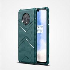 OnePlus 7T用360度 フルカバー極薄ソフトケース シリコンケース 耐衝撃 全面保護 バンパー C01 OnePlus グリーン