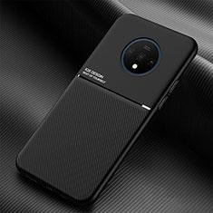 OnePlus 7T用360度 フルカバー極薄ソフトケース シリコンケース 耐衝撃 全面保護 バンパー C03 OnePlus ブラック