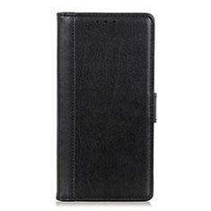 OnePlus 7T Pro 5G用手帳型 レザーケース スタンド カバー L08 OnePlus ブラック
