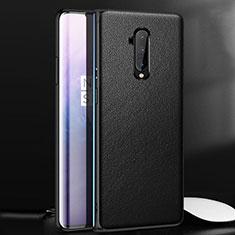 OnePlus 7T Pro 5G用ケース 高級感 手触り良いレザー柄 OnePlus ブラック