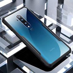 OnePlus 7T Pro 5G用ハイブリットバンパーケース クリア透明 プラスチック 鏡面 カバー OnePlus ブラック