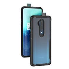 OnePlus 7T Pro 5G用ハイブリットバンパーケース クリア透明 プラスチック 鏡面 カバー M01 OnePlus ブラック